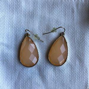Blush drop earrings